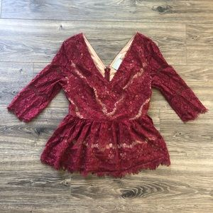 Maeve Anthro Beautiful Lace Top